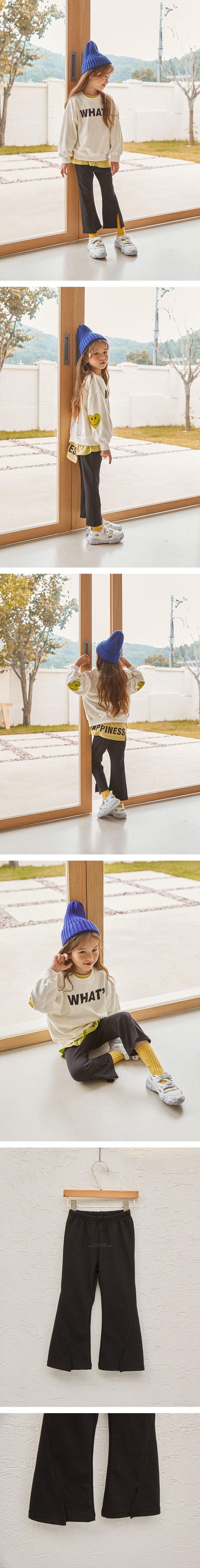 LILAS - Korean Children Fashion - #Kfashion4kids - Diagnol Slit Bootscut Pants - 2
