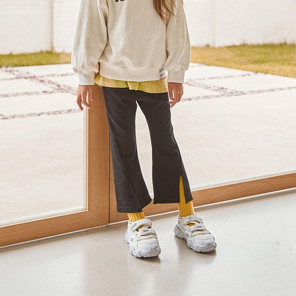 LILAS - BRAND - Korean Children Fashion - #Kfashion4kids - Diagnol Slit Bootscut Pants