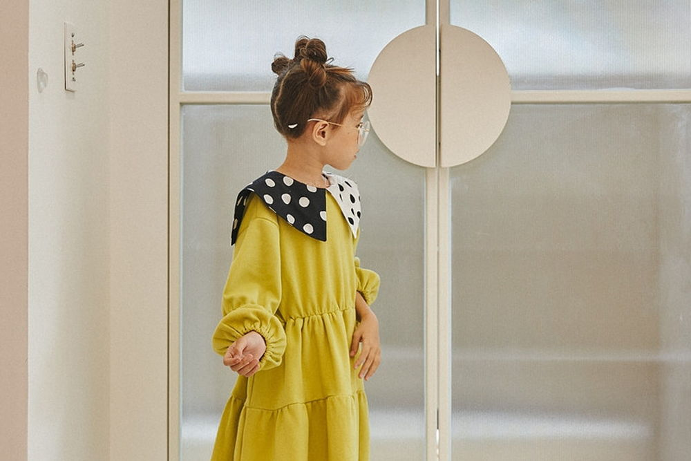 LILAS - Korean Children Fashion - #Kfashion4kids - Collar One-piece
