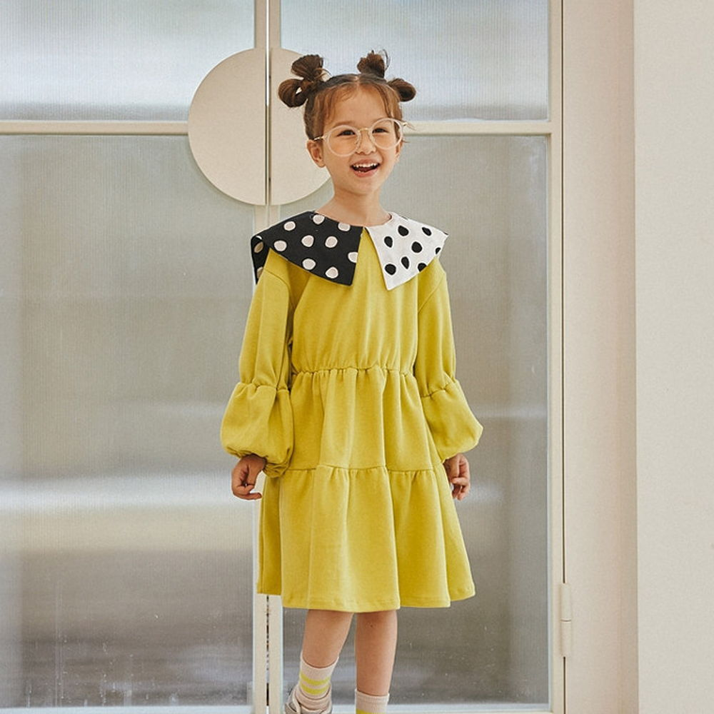 LILAS - BRAND - Korean Children Fashion - #Kfashion4kids - Collar One-piece