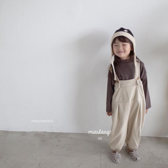 MELONSWITCH - Korean Children Fashion - #Kfashion4kids - Soft Suspender Pants - 2