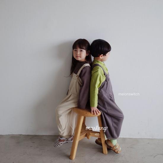 MELONSWITCH - Korean Children Fashion - #Kfashion4kids - Soft Suspender Pants - 4