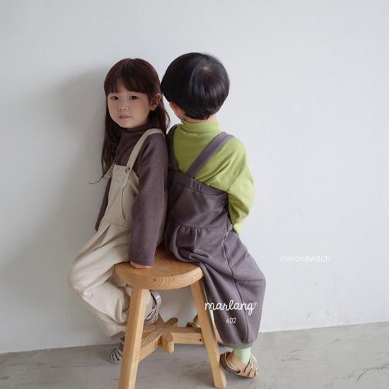 MELONSWITCH - Korean Children Fashion - #Kfashion4kids - Soft Suspender Pants - 5