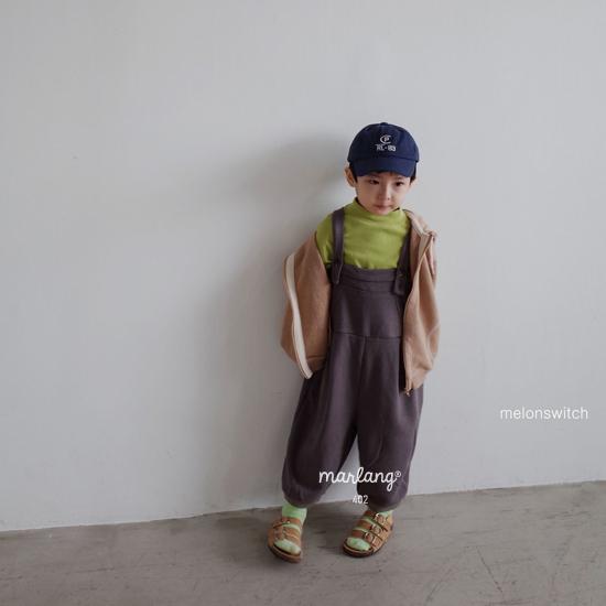 MELONSWITCH - Korean Children Fashion - #Kfashion4kids - Soft Suspender Pants - 7