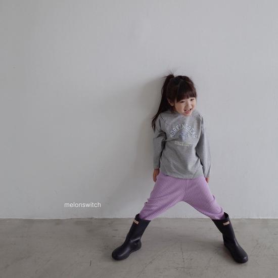 MELONSWITCH - Korean Children Fashion - #Kfashion4kids - Rib Pants - 8