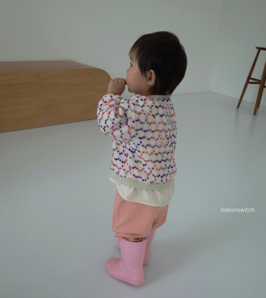 MELONSWITCH - Korean Children Fashion - #Kfashion4kids - Pompom Cardigan - 2