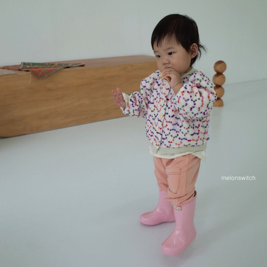 MELONSWITCH - BRAND - Korean Children Fashion - #Kfashion4kids - Pompom Cardigan