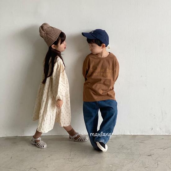 MELONSWITCH - Korean Children Fashion - #Kfashion4kids - Tough Wide Denim Pants - 11