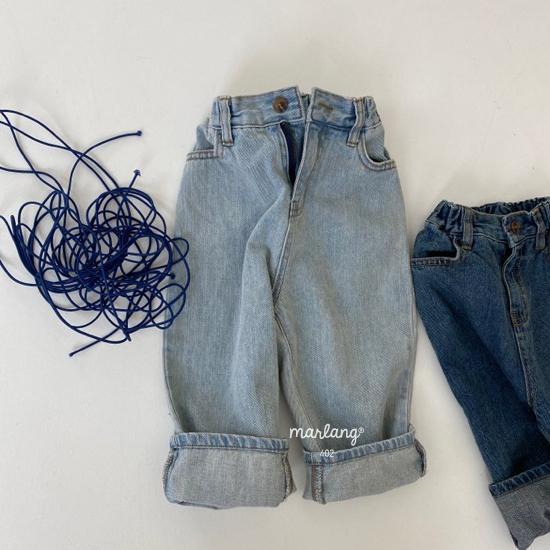 MELONSWITCH - Korean Children Fashion - #Kfashion4kids - Tough Wide Denim Pants - 3