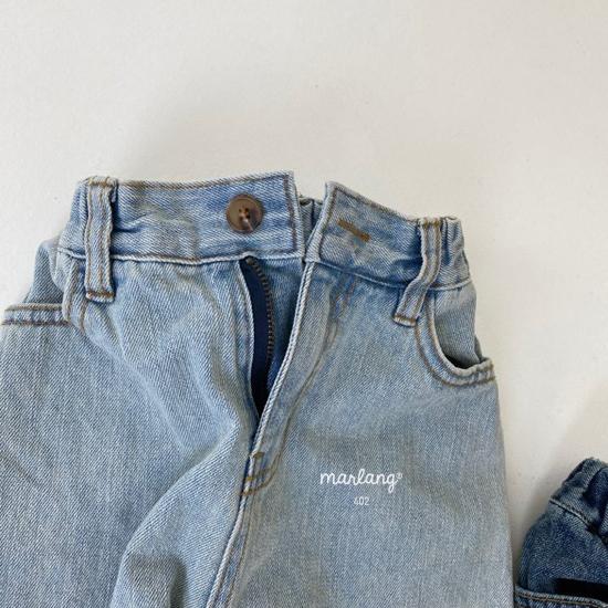 MELONSWITCH - Korean Children Fashion - #Kfashion4kids - Tough Wide Denim Pants - 5