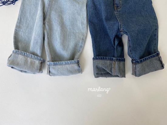 MELONSWITCH - Korean Children Fashion - #Kfashion4kids - Tough Wide Denim Pants - 7