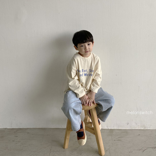 MELONSWITCH - BRAND - Korean Children Fashion - #Kfashion4kids - Tough Wide Denim Pants