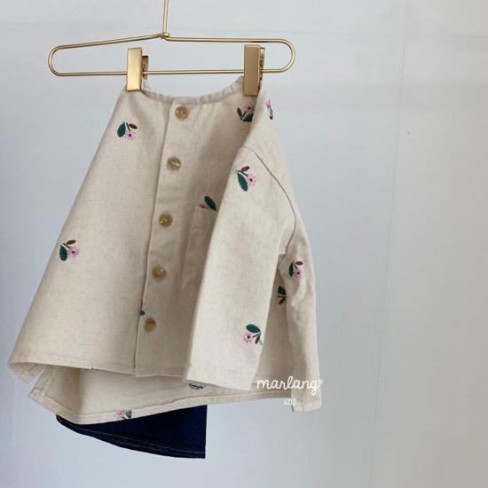 MELONSWITCH - Korean Children Fashion - #Kfashion4kids - Vintage Flower Denim Jacket