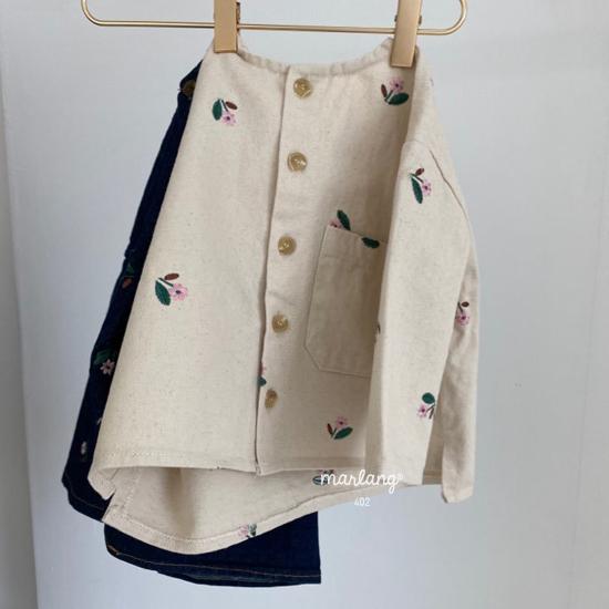 MELONSWITCH - Korean Children Fashion - #Kfashion4kids - Vintage Flower Denim Jacket - 10