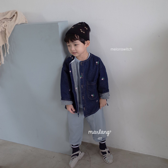 MELONSWITCH - Korean Children Fashion - #Kfashion4kids - Vintage Flower Denim Jacket - 2