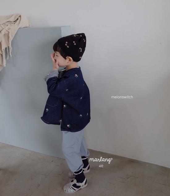 MELONSWITCH - Korean Children Fashion - #Kfashion4kids - Vintage Flower Denim Jacket - 3