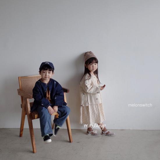 MELONSWITCH - Korean Children Fashion - #Kfashion4kids - Vintage Flower Denim Jacket - 4