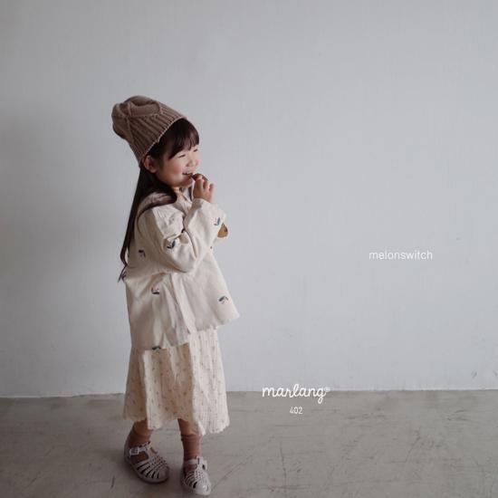 MELONSWITCH - Korean Children Fashion - #Kfashion4kids - Vintage Flower Denim Jacket - 5
