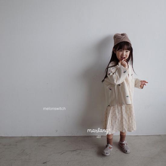 MELONSWITCH - Korean Children Fashion - #Kfashion4kids - Vintage Flower Denim Jacket - 6