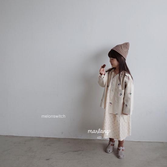 MELONSWITCH - Korean Children Fashion - #Kfashion4kids - Vintage Flower Denim Jacket - 7