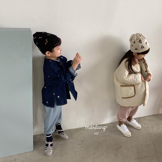 MELONSWITCH - Korean Children Fashion - #Kfashion4kids - Vintage Flower Denim Jacket - 8