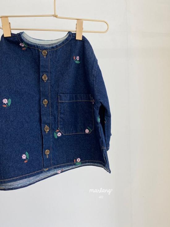 MELONSWITCH - Korean Children Fashion - #Kfashion4kids - Vintage Flower Denim Jacket - 9