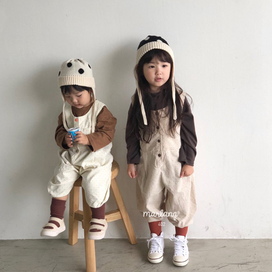 MELONSWITCH - Korean Children Fashion - #Kfashion4kids - Sweet Dot Suspender Pants