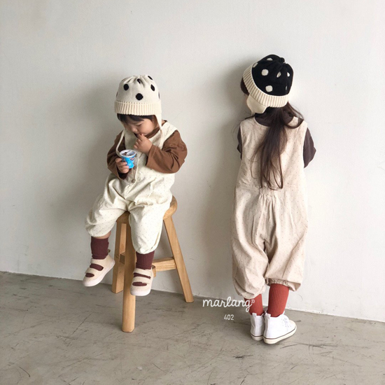 MELONSWITCH - Korean Children Fashion - #Kfashion4kids - Sweet Dot Suspender Pants - 3