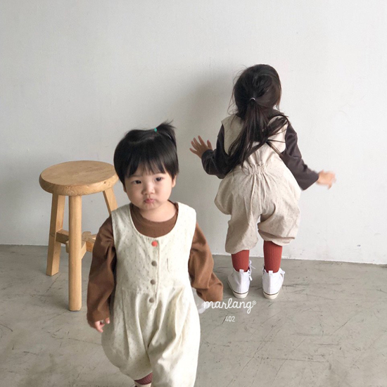 MELONSWITCH - Korean Children Fashion - #Kfashion4kids - Sweet Dot Suspender Pants - 5