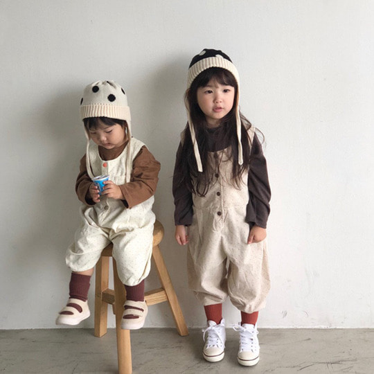 MELONSWITCH - BRAND - Korean Children Fashion - #Kfashion4kids - Sweet Dot Suspender Pants