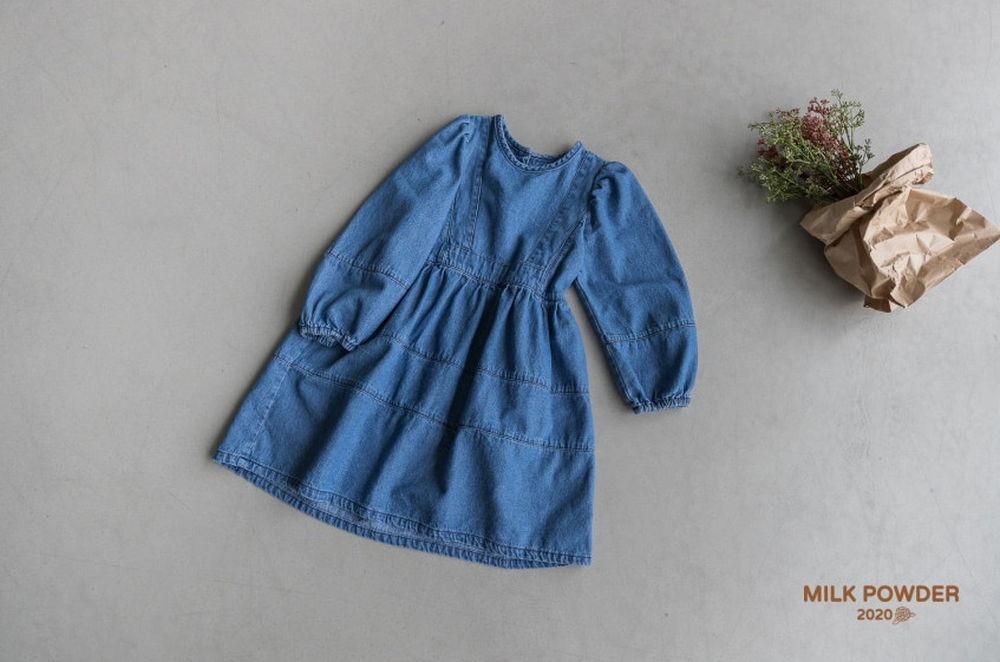 MILK POWDER - Korean Children Fashion - #Kfashion4kids - Denim One-piece