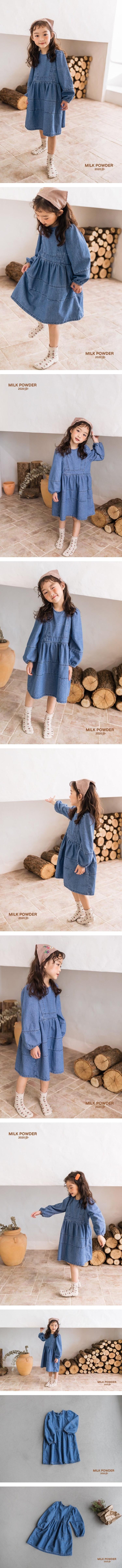 MILK POWDER - Korean Children Fashion - #Kfashion4kids - Denim One-piece - 2