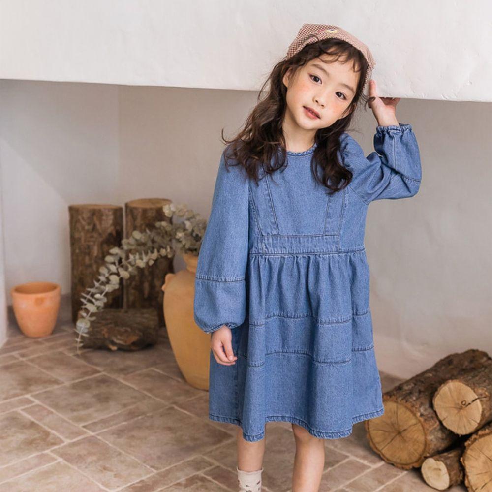 MILK POWDER - BRAND - Korean Children Fashion - #Kfashion4kids - Denim One-piece