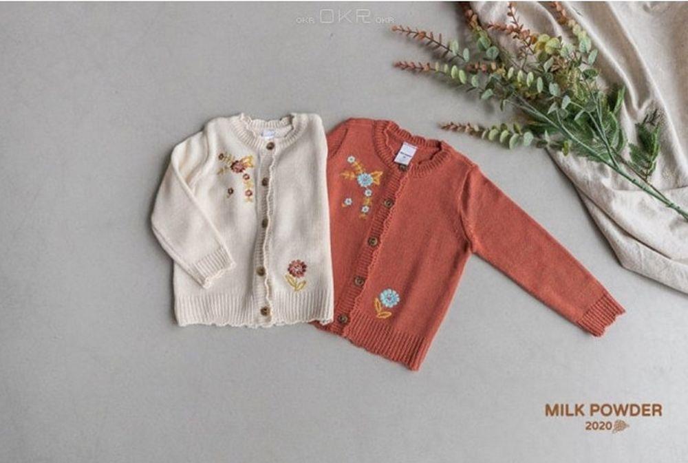 MILK POWDER - Korean Children Fashion - #Kfashion4kids - Farm's Knit Cardigan