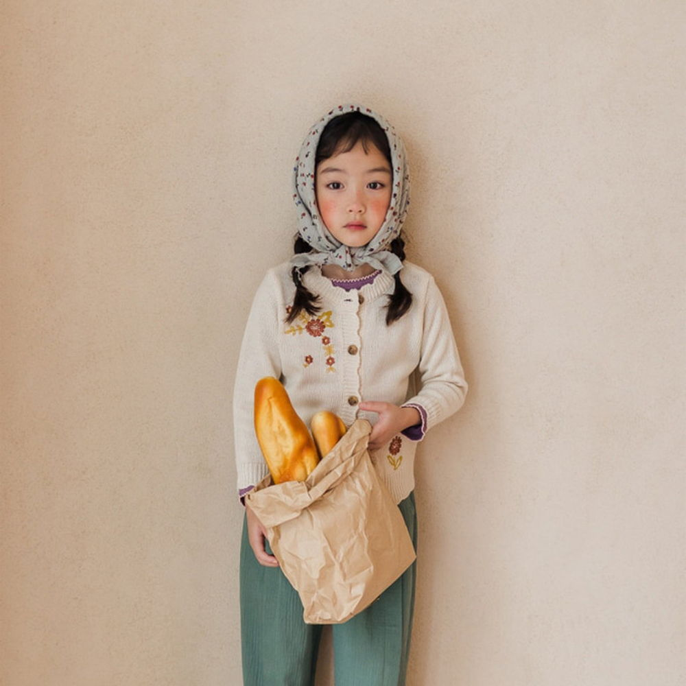 MILK POWDER - BRAND - Korean Children Fashion - #Kfashion4kids - Farm's Knit Cardigan