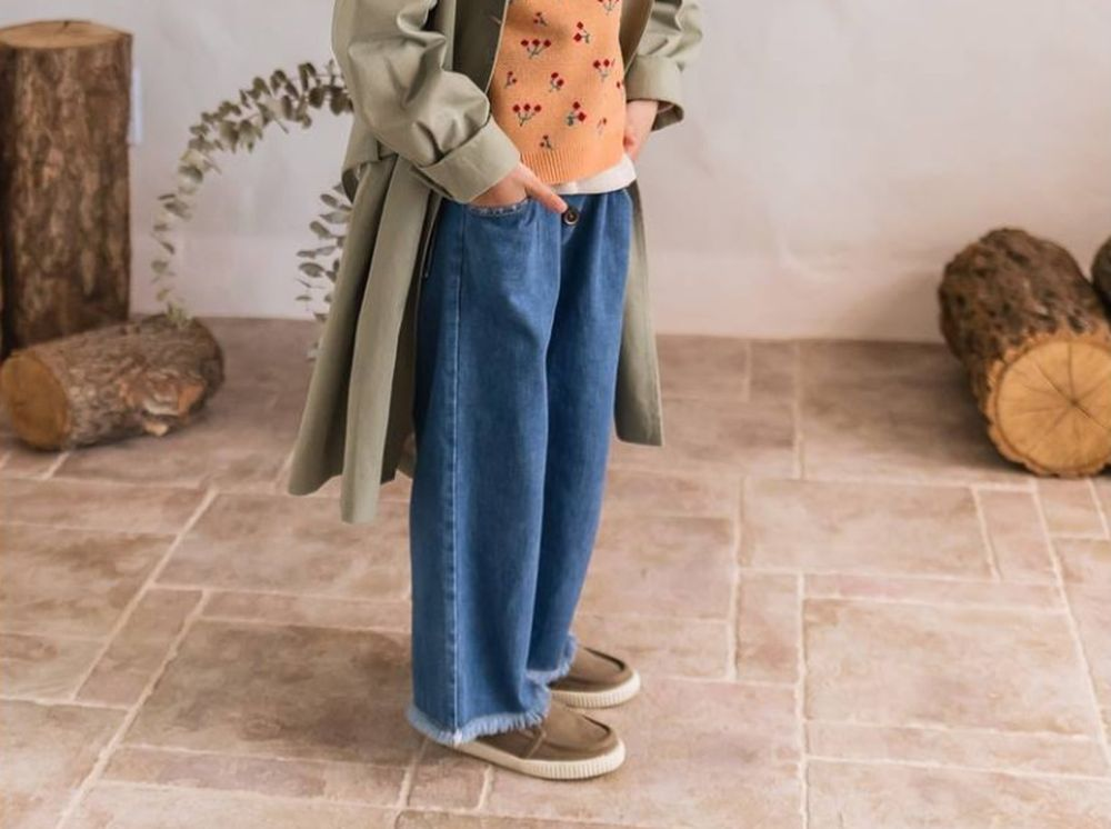 MILK POWDER - Korean Children Fashion - #Kfashion4kids - Wide Denim Pants