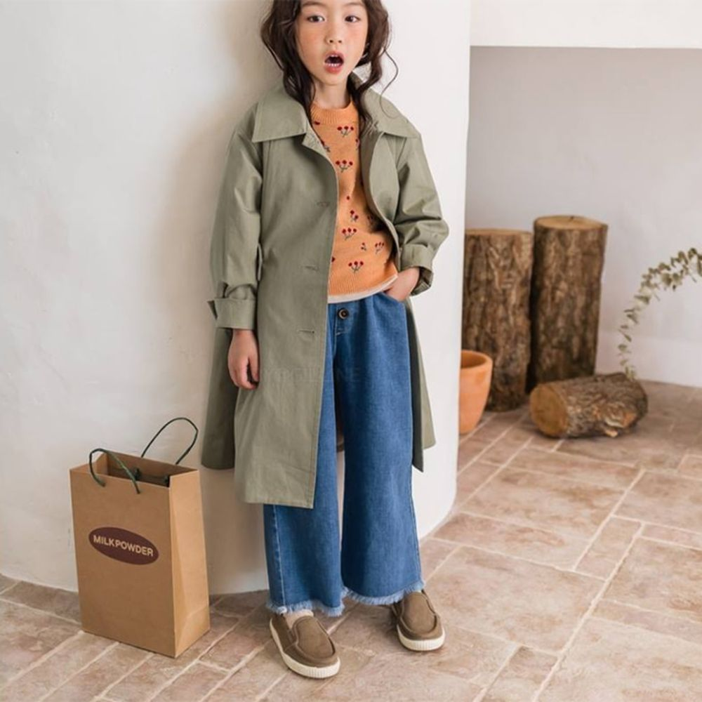 MILK POWDER - BRAND - Korean Children Fashion - #Kfashion4kids - Wide Denim Pants