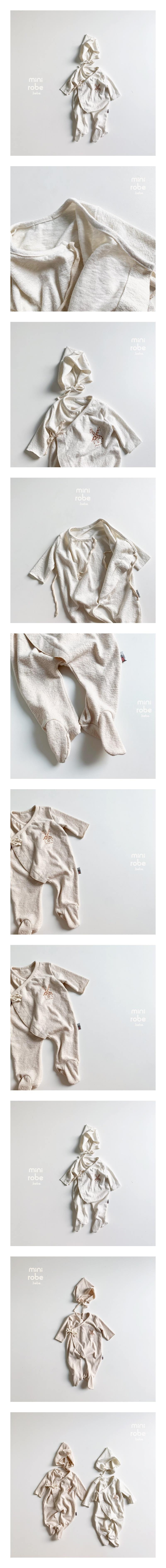 MINI ROBE - Korean Children Fashion - #Kfashion4kids - Giraffe Bodysuit with Hat