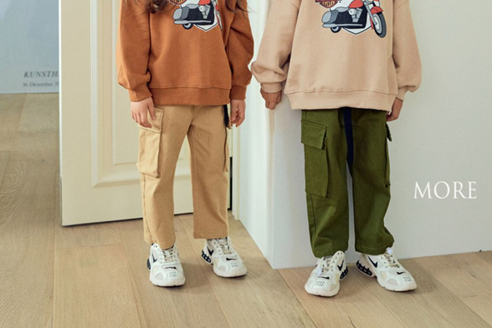 MORE - BRAND - Korean Children Fashion - #Kfashion4kids - Belted Cargo Pants