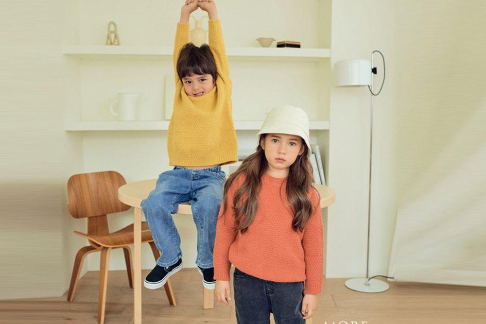 MORE - BRAND - Korean Children Fashion - #Kfashion4kids - Waffle Knit Pullover