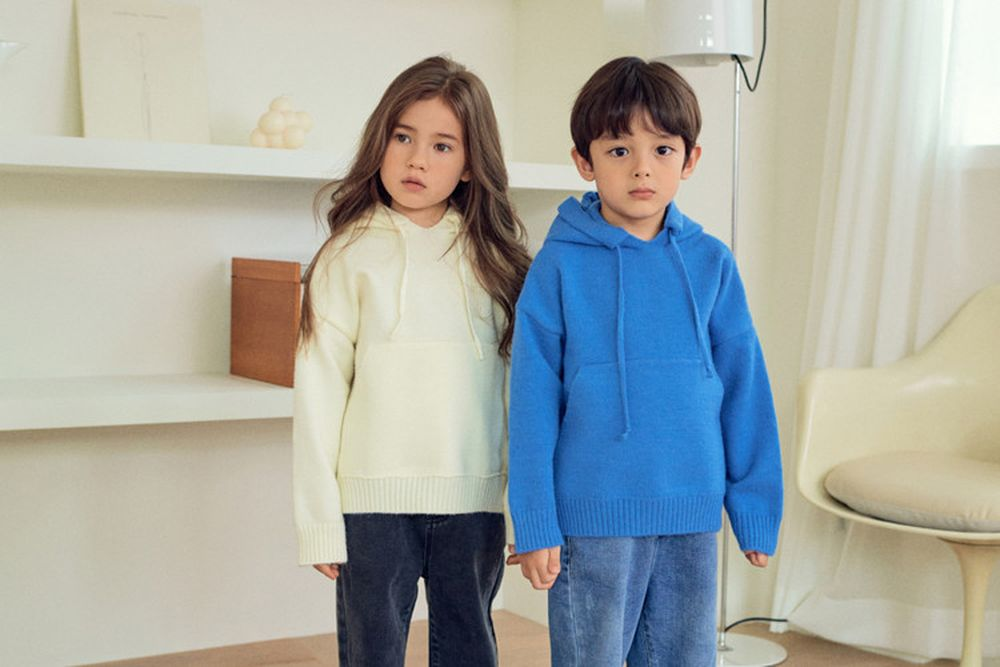 MORE - BRAND - Korean Children Fashion - #Kfashion4kids - Hood Knit MTM