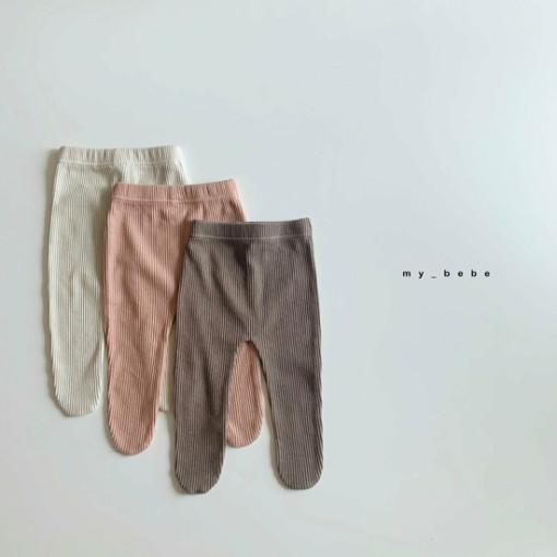 MY BEBE - BRAND - Korean Children Fashion - #Kfashion4kids - Rib Foot Leggings