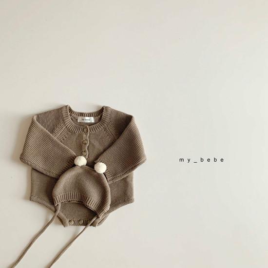 MY BEBE - Korean Children Fashion - #Kfashion4kids - Pompom Bodysuit with Hat - 11