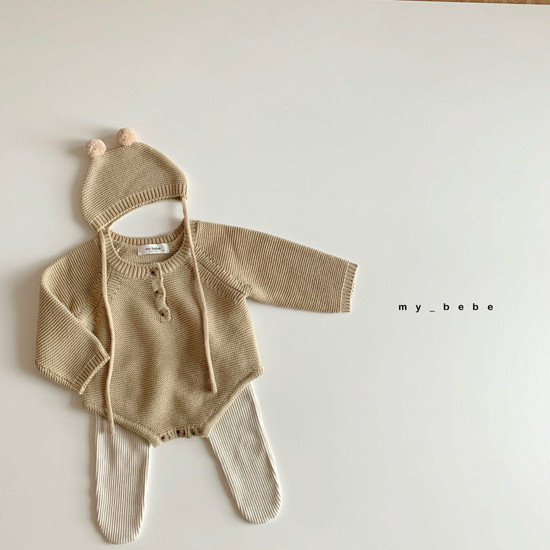 MY BEBE - Korean Children Fashion - #Kfashion4kids - Pompom Bodysuit with Hat - 8