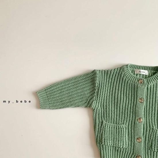 MY BEBE - Korean Children Fashion - #Kfashion4kids - Hazzi Knit Cardigan - 10