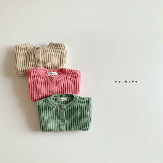 MY BEBE - Korean Children Fashion - #Kfashion4kids - Hazzi Knit Cardigan - 2