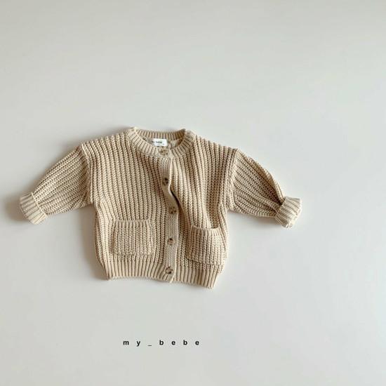 MY BEBE - Korean Children Fashion - #Kfashion4kids - Hazzi Knit Cardigan - 3