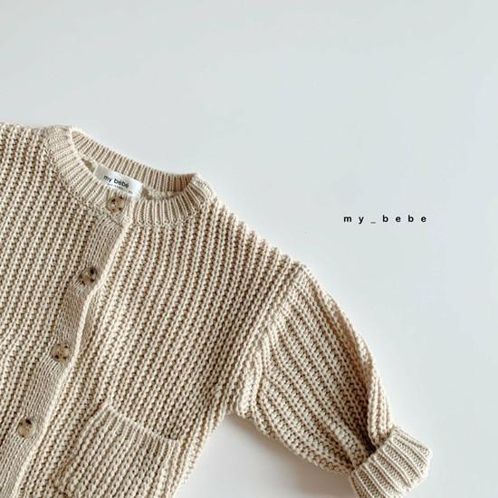 MY BEBE - Korean Children Fashion - #Kfashion4kids - Hazzi Knit Cardigan - 4