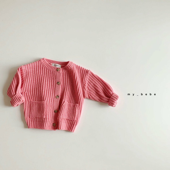 MY BEBE - Korean Children Fashion - #Kfashion4kids - Hazzi Knit Cardigan - 6