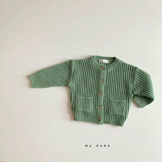MY BEBE - Korean Children Fashion - #Kfashion4kids - Hazzi Knit Cardigan - 9
